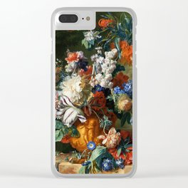 "Jan van Huysum ""Bouquet of Flowers in an Urn"" Clear iPhone Case"