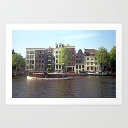 Canal Cruise Art Print