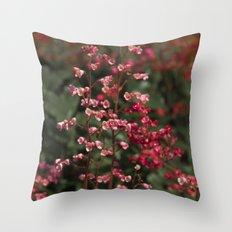 Little Red Flowers Throw Pillow