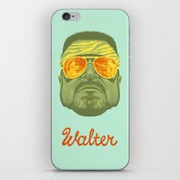 lebowski iPhone & iPod Skins featuring The Lebowski Series: Walter by Bubblegun