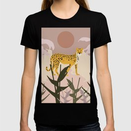 Spotted - Panther Jungle Retro Minimalist Graphic T-shirt