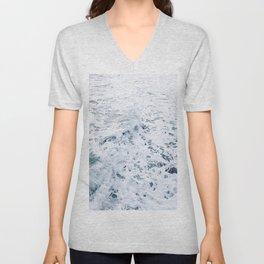sea foam waves Unisex V-Neck