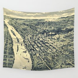 Vintage Map of St. Paul MN (1893) Wall Tapestry