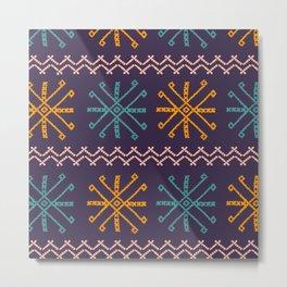 Mangyan Pattern Metal Print