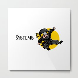 Efficient Systems Analyst Metal Print