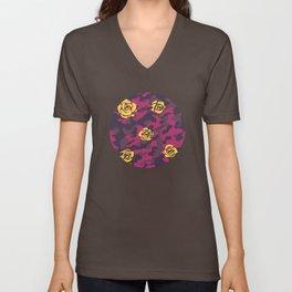 Purple Rose Camo Unisex V-Neck