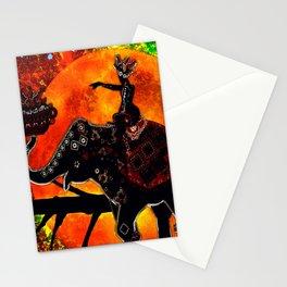 ELEPHANT ADVENTURE ORANGE MOON Stationery Cards