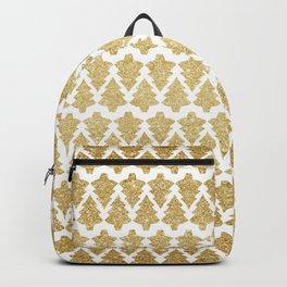 Christmas Tree Pattern Gold Glitter Backpack