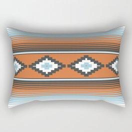 Modern Mexican Serape in Technicolor Rectangular Pillow