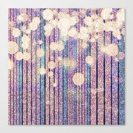 Glitter Pink Grunge Splatter Canvas Print