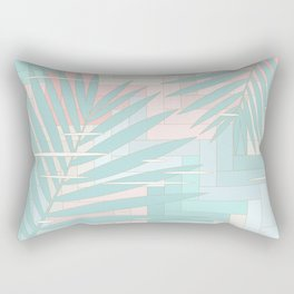 Summer Mood with Chevron and Palms Rectangular Pillow
