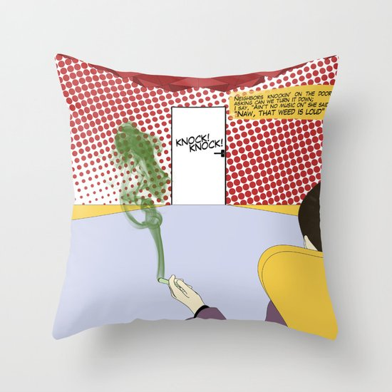 That Weed Is Loud Throw Pillow