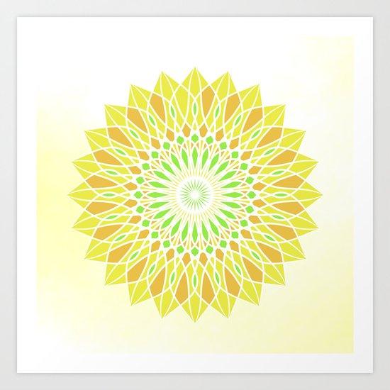 Fresh mandala Art Print