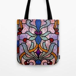 Art Nouveau Stain Glass Victorian Pastel Design Tote Bag