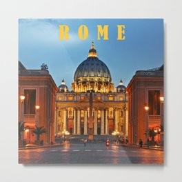SAINT PETER'S CATHEDRAL in ROME Metal Print