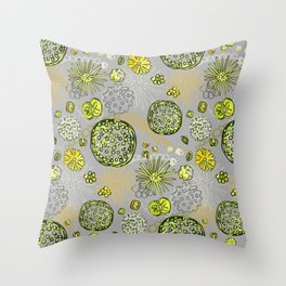 Algae mix Throw Pillow