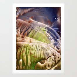 Intensely immersive hollow light flight Art Print