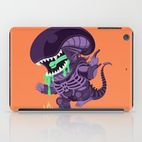 xenomorph iPad Cases featuring Cute Xenomorph by nocturnallygeekyme