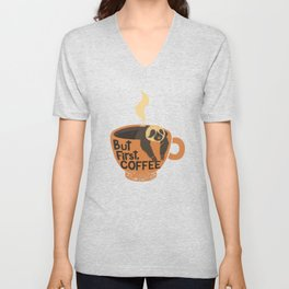 But First Coffee Unisex V-Neck