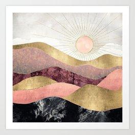 Blush Sun Kunstdrucke