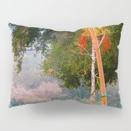 Green pastures and trees photo Pillow Sham
