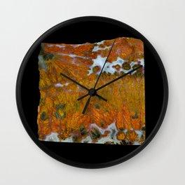 Texas Plume Agate Wall Clock