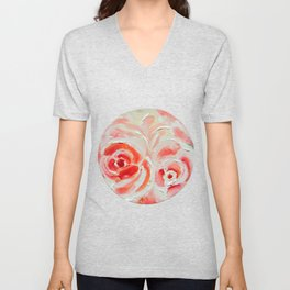 Peach Plums Unisex V-Neck