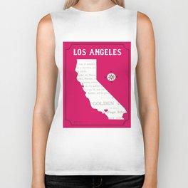 Los Angeles, California - Illustration by Loose Petals Biker Tank