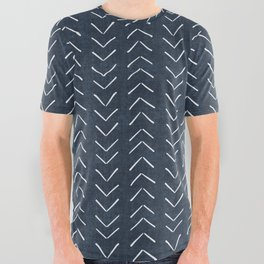 Mud Cloth Big Arrows in Navy All Over Graphic Tee