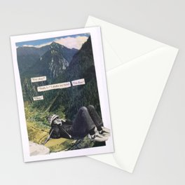 A Phone Conversation (Subtext) Stationery Cards