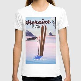 Morzine,French Alps, Ski poster T-shirt