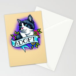 Adopt A Cat Stationery Cards
