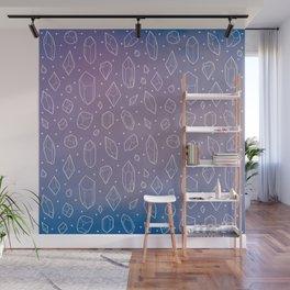 Crystals (Lilac) Wall Mural