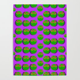 The happy eyes of freedom in polka dot cartoon pop art Poster