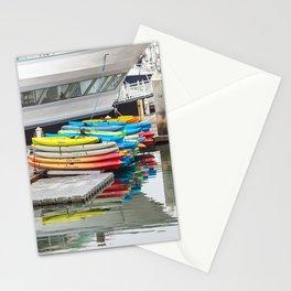 Colorful Kayaks Stationery Cards