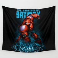 hero Wall Tapestries featuring Unbreakable Hero by Six Eyed Monster