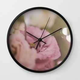 Flowers and roses Wall Clock