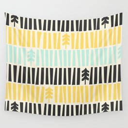 Mid-Century Modern illustrated Pattern Wall Tapestry