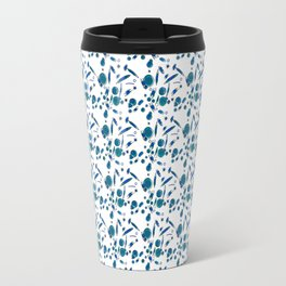 Blue Plankton Pattern Travel Mug