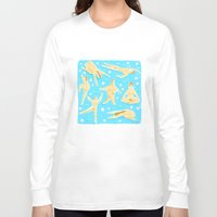 nudes Long Sleeve T-shirts featuring NUDES! by Ciara Gay