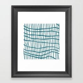 Net Blue on White Framed Art Print
