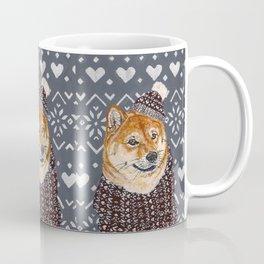 Shiba Inu in a  Hat and Scarf Coffee Mug