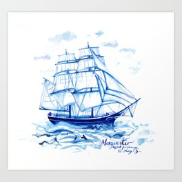Set the sails! All aboard the Morgenster Art Print