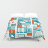 skate Duvet Covers featuring Skate Trip by Ariel Wilson