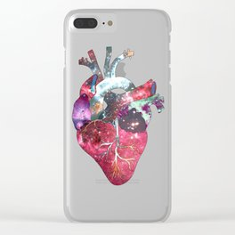 Superstar Heart (on white) Clear iPhone Case