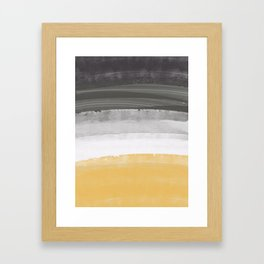 Coastal waves Framed Art Print
