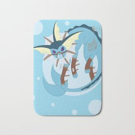 Water Steampunk Fox Bath Mat