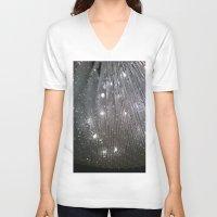 sparkles V-neck T-shirts featuring Sparkles by Jacqueline Obispo