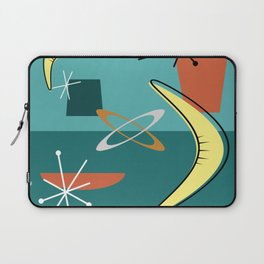 Turquoise Atomic Era Space Age Laptop Sleeve