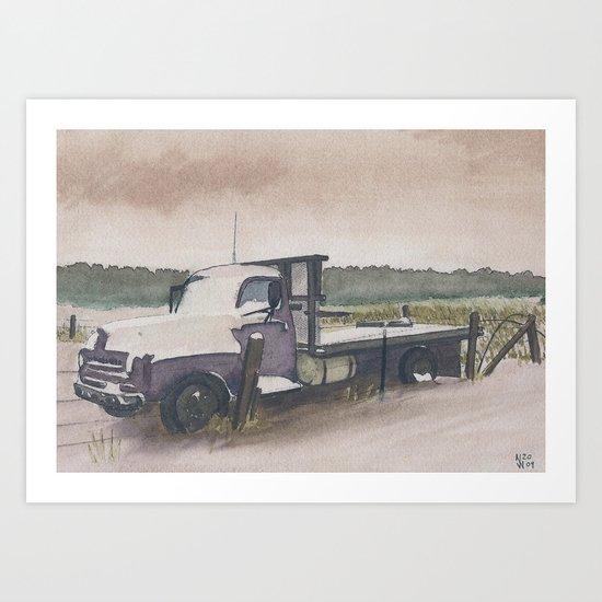 The Work Truck Art Print
